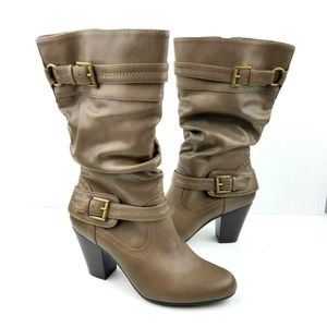 WHITE MOUNTAIN Heel Buckle Boots NWT  S26